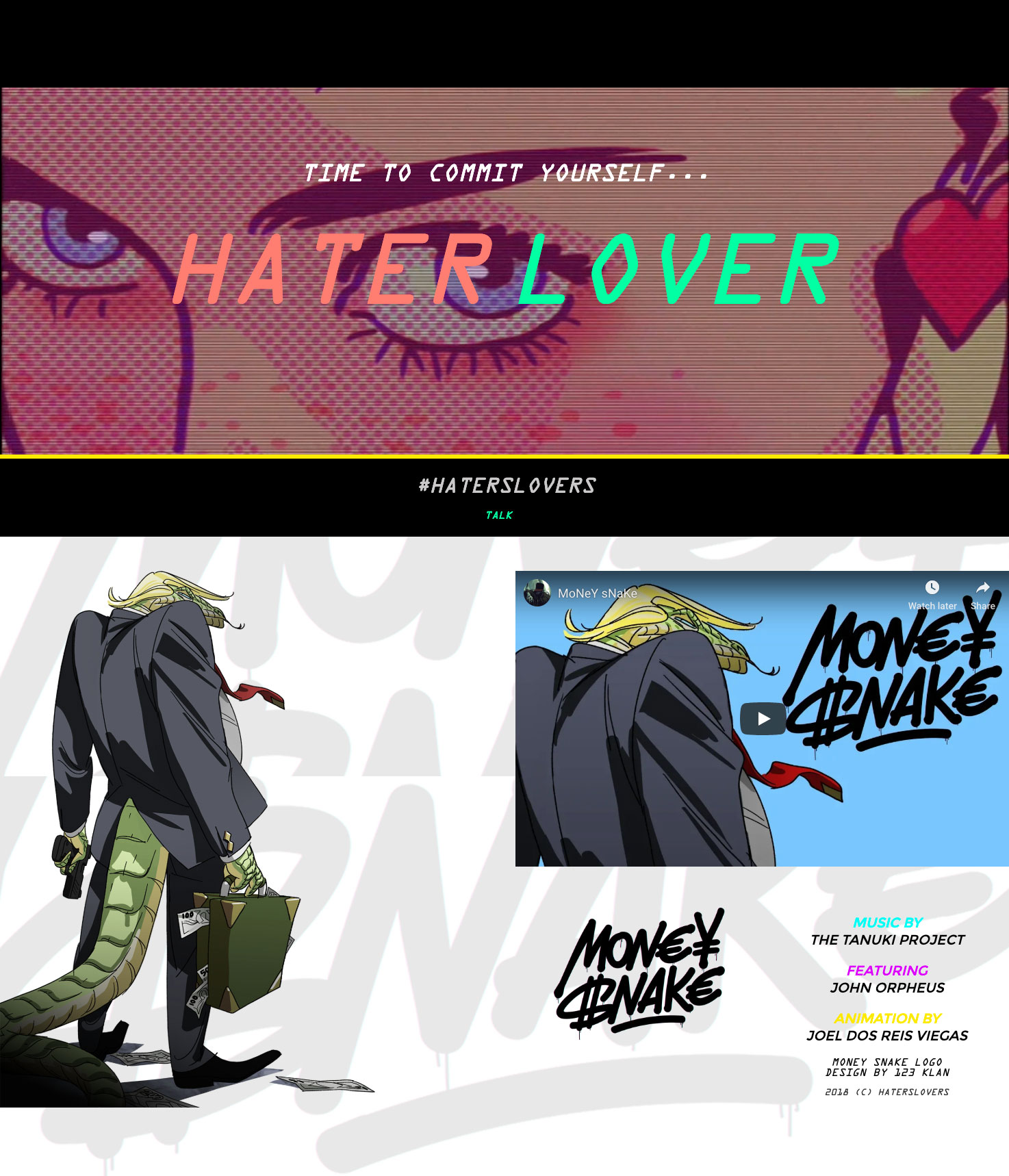 Haters Lovers site web