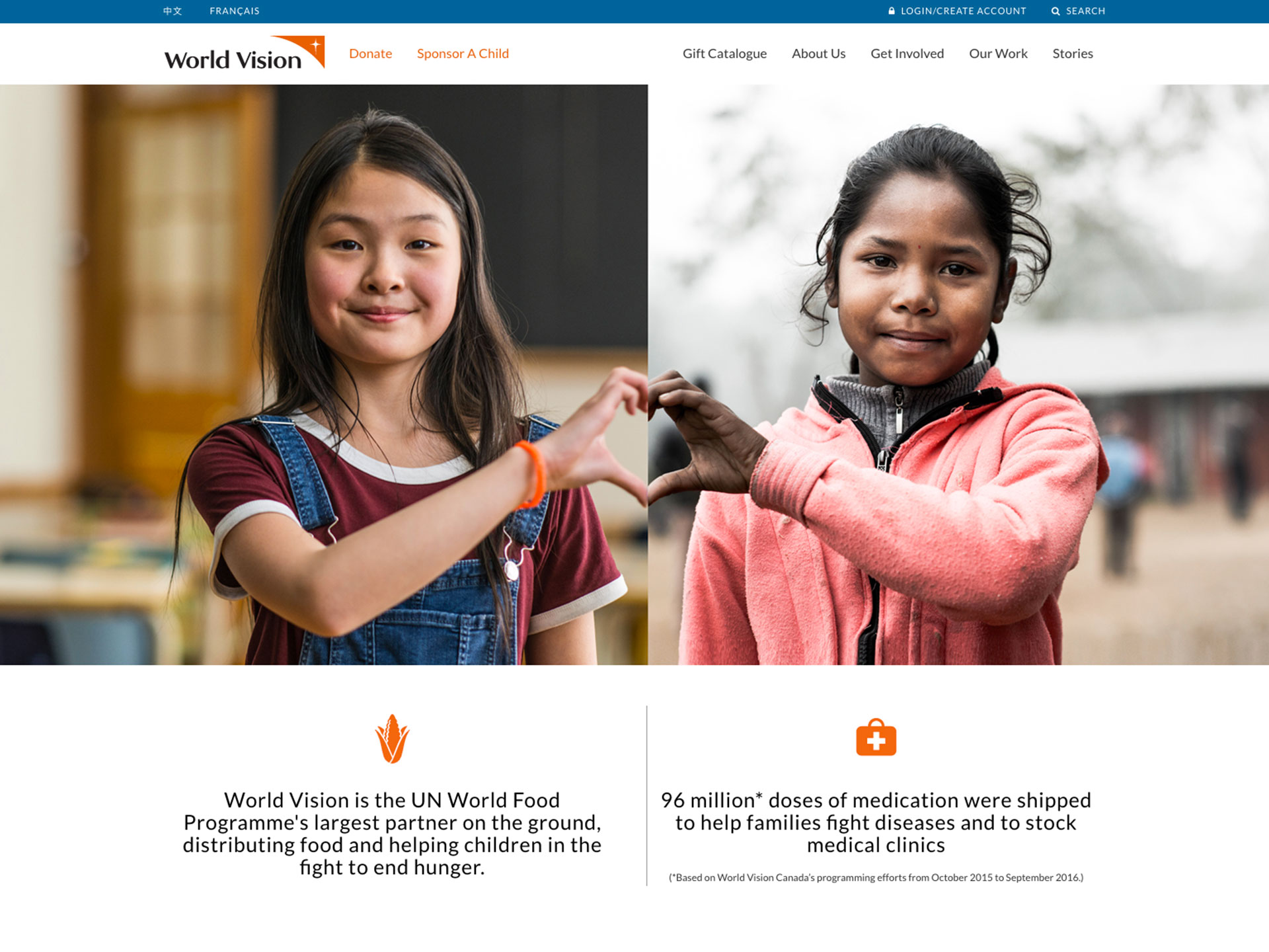 World Vision Official website