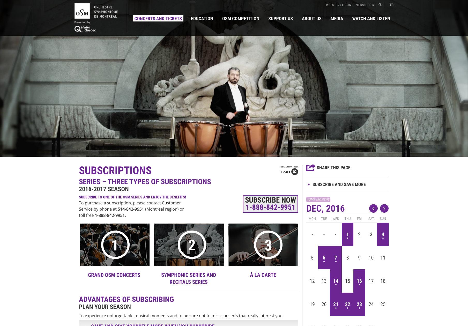 OSM site web La Cuisine